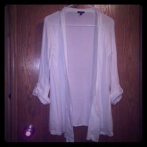 Express White Women's Cardigan Large